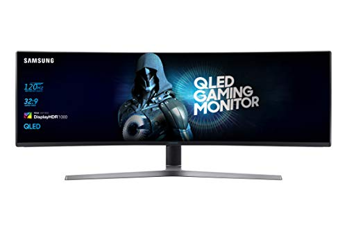 Samsung C49RG90, Ecran PC Gaming incurvé, UltraLarge, Dalle VA 49', Résolution 5K (5120 x 1440), 120 Hz, 4ms, HDR 1000, QLED, AMD Freesync, Noir